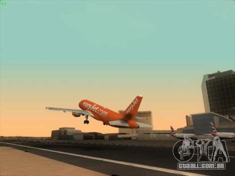 Airbus A320-214 EasyJet 200th Plane para vista lateral GTA San Andreas