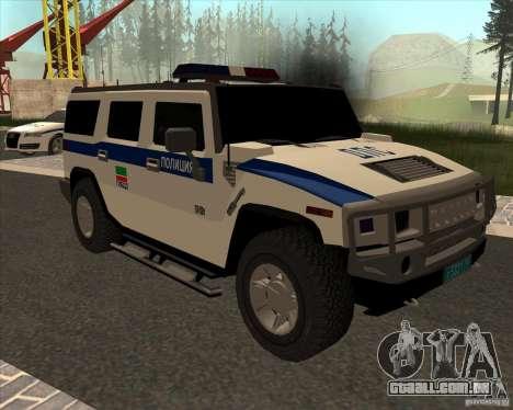 Hummer H2 DPS para GTA San Andreas vista traseira