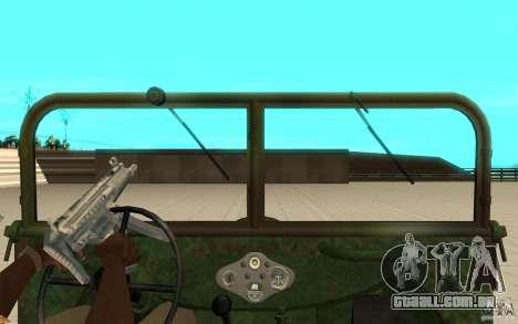 Gaz-64 pele 2 para GTA San Andreas vista direita
