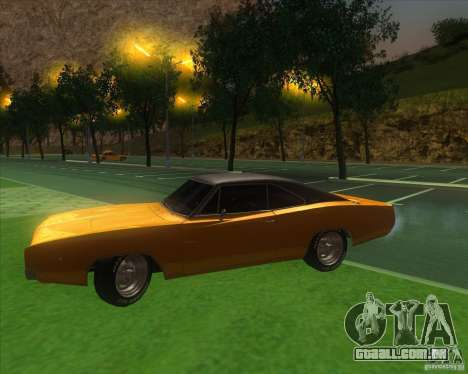 Dodge Charger RT 1968 para GTA San Andreas vista interior
