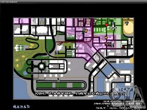 A fonte do NFS MW V2 para GTA San Andreas sexta tela
