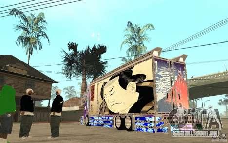 ART TRACK para GTA San Andreas traseira esquerda vista