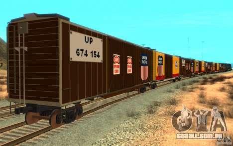 Union Pacific Reefer para GTA San Andreas vista direita