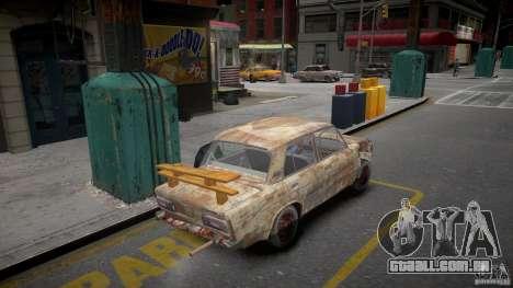 Rusty 2106 VAZ para GTA 4 traseira esquerda vista
