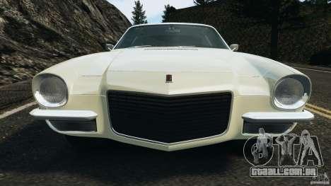 Chevrolet Camaro 1970 v1.0 para GTA 4 rodas