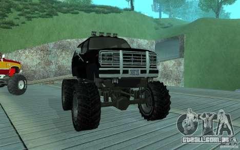 Ford Bronco Monster Truck 1985 para GTA San Andreas esquerda vista