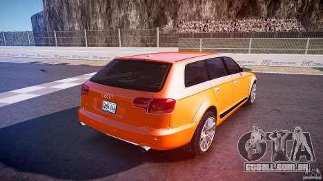 Audi A6 Allroad Quattro 2007 wheel 2 para GTA 4 vista superior