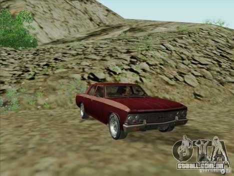 Chevrolet Chevelle para GTA San Andreas traseira esquerda vista