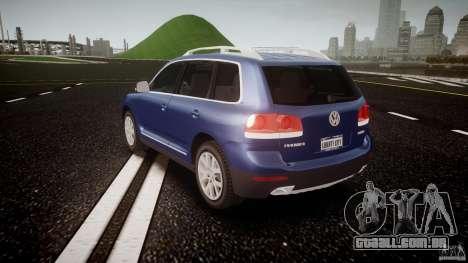 Volkswagen Touareg 2008 TDI para GTA 4 traseira esquerda vista