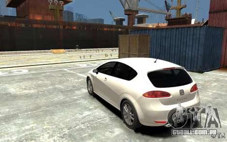 Seat Leon Cupra v.2 para GTA 4 traseira esquerda vista
