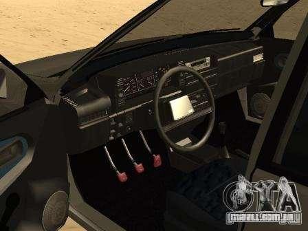 VAZ verão 21099 para GTA San Andreas traseira esquerda vista