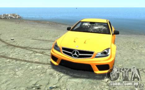 Mercedes-Benz C63 AMG 2012 para GTA 4 interior