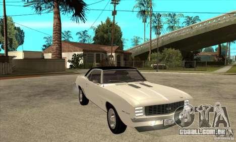 Chevrolet Camaro SS - Stock para GTA San Andreas vista traseira