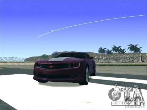 Chevrolet Camaro SS para GTA San Andreas traseira esquerda vista