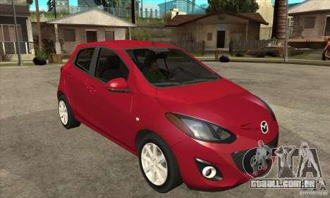 Mazda 2 2011 para GTA San Andreas vista traseira