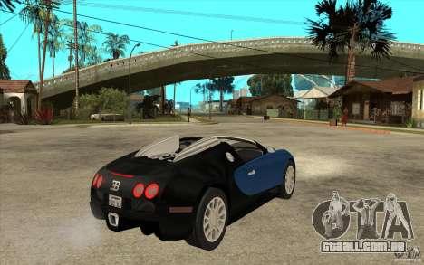 Bugatti Veyron Gran Sport 2011 para GTA San Andreas vista direita