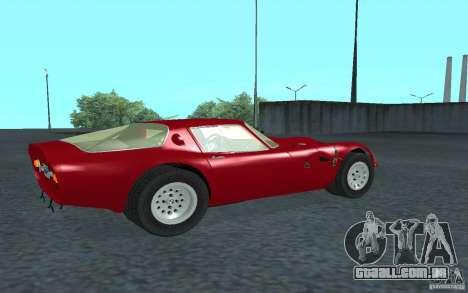 Alfa Romeo Gulia TZ2 1965 para GTA San Andreas traseira esquerda vista