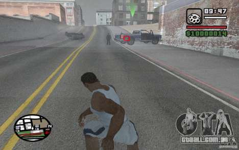 Faca jogando para GTA San Andreas segunda tela