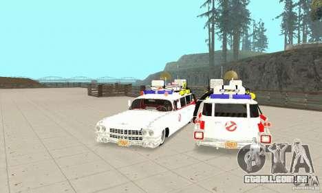 Ghostbusters ECTO 1 para GTA San Andreas vista traseira