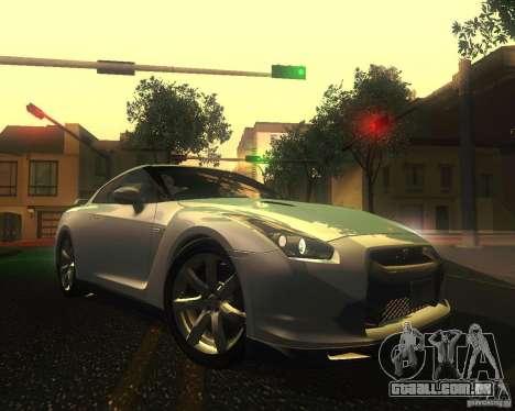 Nissan GTR R35 Spec-V 2010 Stock Wheels para GTA San Andreas vista inferior