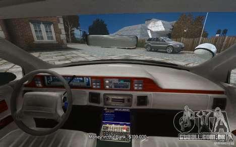 Chevrolet Caprice 1991 Police para GTA 4 motor