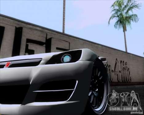 Saturn Sky Roadster para GTA San Andreas traseira esquerda vista