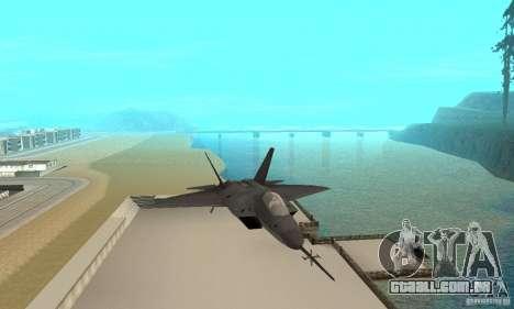 YF-22 Black para GTA San Andreas vista traseira