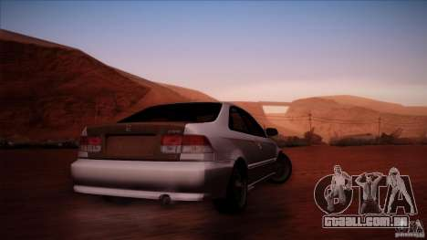 Honda Civic Coupe Si Coupe 1999 para GTA San Andreas vista direita
