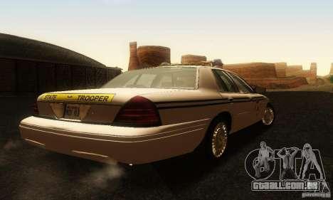 Ford Crown Victoria South Carolina Police para GTA San Andreas esquerda vista