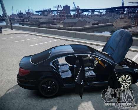 Volkswagen Passat CC para GTA 4 vista superior