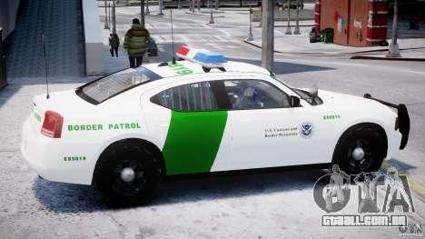 Dodge Charger US Border Patrol CHGR-V2.1M [ELS] para GTA 4 traseira esquerda vista