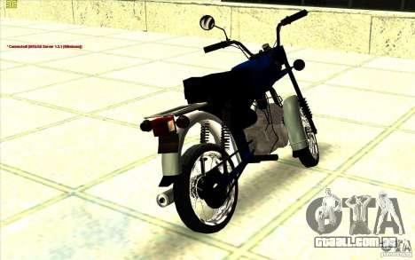 Ciclomotor: para GTA San Andreas esquerda vista
