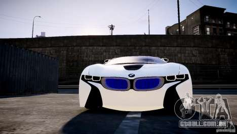 BMW Vision Efficient Dynamics 2012 para GTA 4 vista de volta
