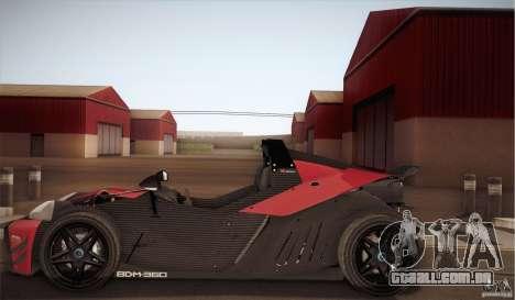 KTM-X-Bow para GTA San Andreas vista traseira