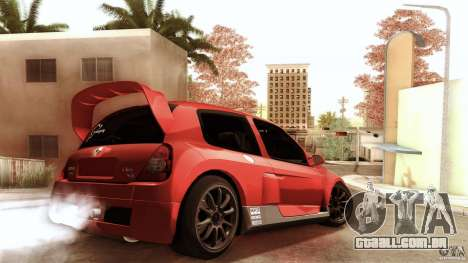Renault Clio V6 Sport Track Car para GTA San Andreas traseira esquerda vista