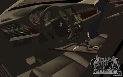 BMW X5 M 2009 para GTA San Andreas vista traseira