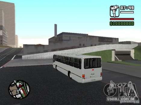 Busscar Urbanus SS Volvo B10M para GTA San Andreas traseira esquerda vista