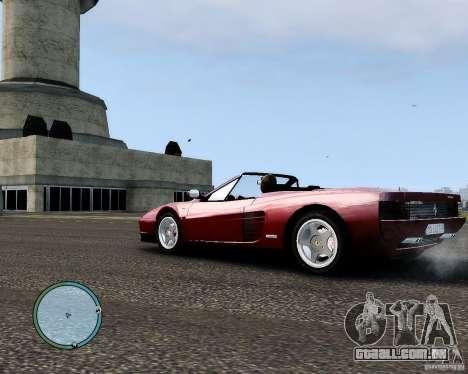 Ferrari Testarossa para GTA 4 traseira esquerda vista