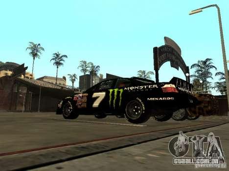 Toyota Camry Nascar Monster Energi Nr.7 para GTA San Andreas traseira esquerda vista