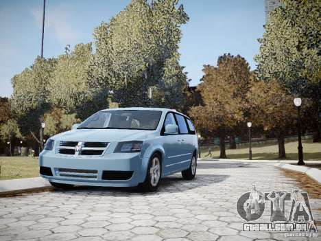 Dodge Grand Caravan SXT 2008 para GTA 4 vista superior