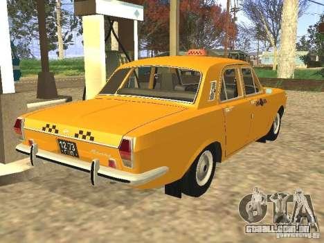Táxi GAZ 24-01 para GTA San Andreas esquerda vista