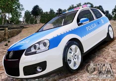 Volkswagen Golf V Polish Police para GTA 4