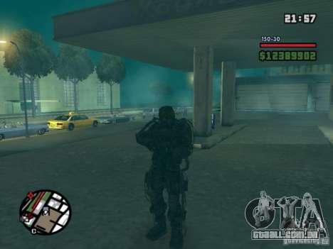 Perseguidor militar em èkzoskelete para GTA San Andreas segunda tela