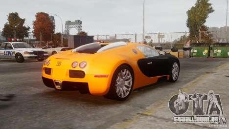 Bugatti Veyron 16.4 para GTA 4 vista de volta