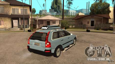 Volvo XC90 V8 2008 para GTA San Andreas vista direita