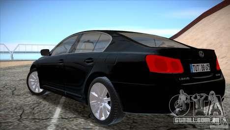 Lexus GS430 para GTA San Andreas vista direita