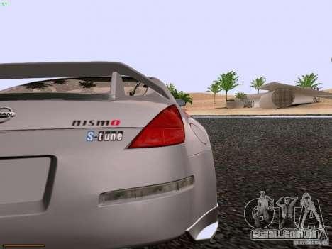 Nissan 350Z Nismo S-Tune para GTA San Andreas vista traseira