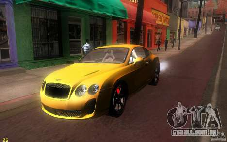 Bentley Continental SS para GTA San Andreas esquerda vista