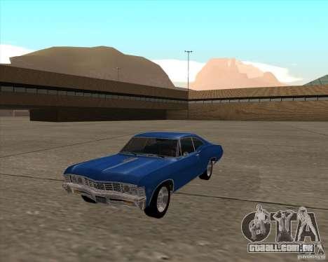 Chevrolet Impala 427 SS 1967 para GTA San Andreas vista direita