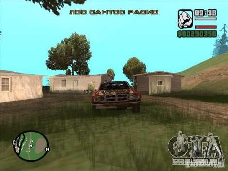FlatOut bullet para GTA San Andreas traseira esquerda vista